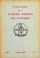 Ver ficha de la obra: Boletín de la Academia Porteña del Lunfardo