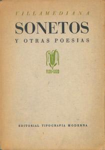 Cubierta de la obra : Sonetos y otras poesías