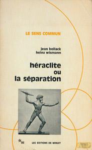 Cubierta de la obra : Héraclite ou La séparation