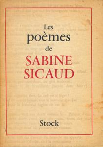 Cubierta de la obra : Les poèmes de Sabine Sicaud