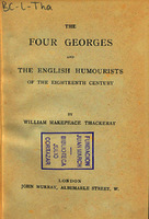 Ver ficha de la obra: four Georges and The English humourists of the eighteenth century