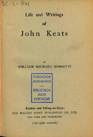 Ver ficha de la obra: Life and writings of John Keats