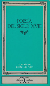 Cubierta de la obra : Poesía del siglo XVIII