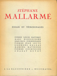 Front Cover : Stéphane Mallarmé