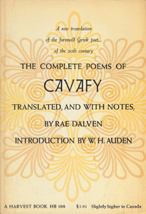 Front Cover : The complete poems of Cavafy