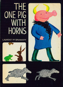 Cubierta de la obra : The one pig with horns