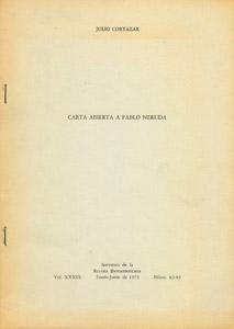Cubierta de la obra : Carta abierta a Pablo Neruda
