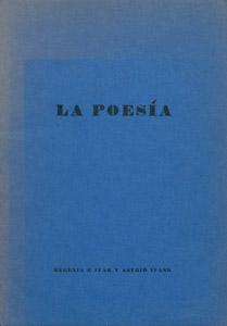 Cubierta de la obra : La poesía