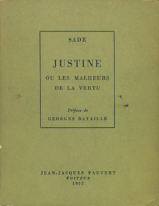 Cubierta de la obra : Justine ou Les malheurs de la vertu