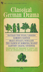 Front Cover : Classical German drama
