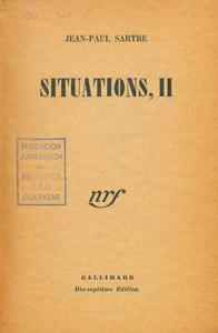 Cubierta de la obra : Situations, II