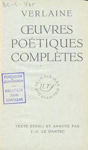 Front Cover : Oeuvres poétiques complètes