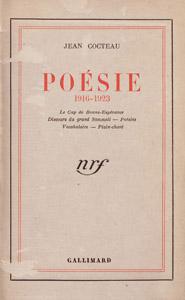 Cubierta de la obra : Poésie, 1916-1923