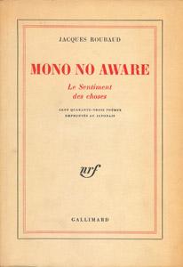 Cubierta de la obra : Mono no aware