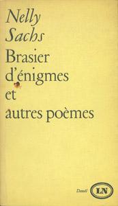 Cubierta de la obra : Brasier d'énigmes et autres poèmes