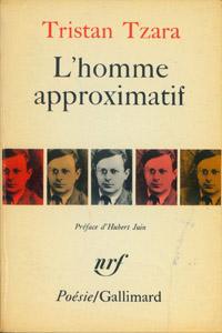Cubierta de la obra : L' Homme approximatif, 1925-1930