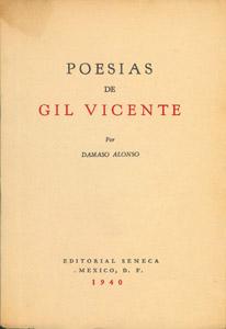 Cubierta de la obra : Poesías de Gil Vicente