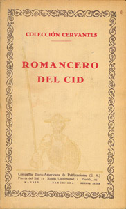Cubierta de la obra : Romancero del Cid