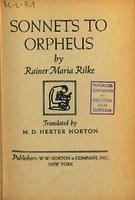 Ver ficha de la obra: Sonnets to Orpheus