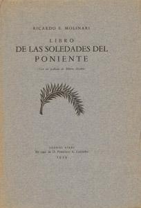 Cubierta de la obra : Libro de las soledades del poniente