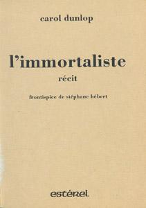 Cubierta de la obra : L' immortaliste
