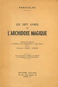 Front Cover : Les sept livres de l'Archidoxe magique