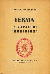 Cubierta de la obra : Yerma ; La zapatera prodigiosa