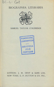 Front Cover : Biographia literaria