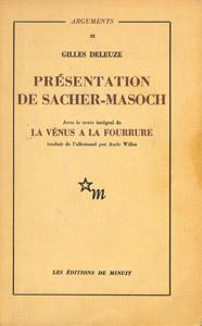Cubierta de la obra : Présentation de Sacher-Masoch