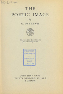 Front Cover : The poetic image
