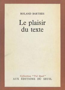 Cubierta de la obra : Le plaisir du texte