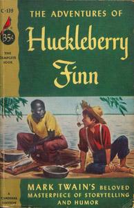 Cubierta de la obra : The adventures of Huckleberry Finn