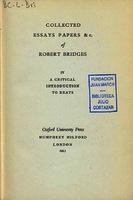 Ver ficha de la obra: Collected essays papers &c. of Robert Bridges