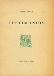 Front Cover : Testimonios