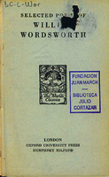 Ver ficha de la obra: Selected poems of William Wordsworth