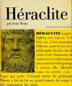 Cubierta de la obra : Héraclite ou Le Philosophie de l'Eternel Retour