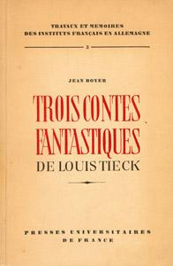 Cubierta de la obra : Trois contes fantastiques