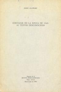 Cubierta de la obra : Cortázar en la década de 1940