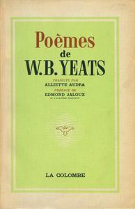 Cubierta de la obra : Poèmes de W. B. Yeats