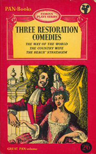 Front Cover : Three restoration comedies