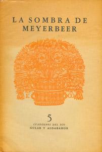 Front Cover : La sombra de Meyerbeer
