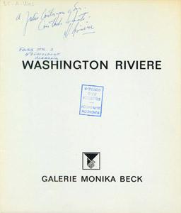 Cubierta de la obra : Washington Riviere