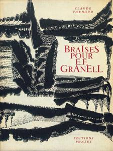Cubierta de la obra : Braises pour E. F. Granell
