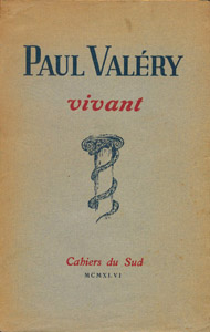 Front Cover : Paul Valery, vivant