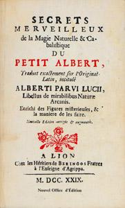 Cubierta de la obra : Les admirables secrets d'Albert le Grand