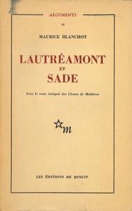 Cubierta de la obra : Lautréamont et Sade