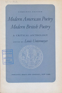 Front Cover : Modern American poetry, modern British poetry