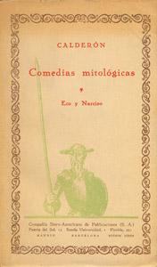 Cubierta de la obra : Comedias mitológicas