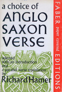 Front Cover : A choice of Anglo-Saxon verse