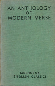 Front Cover : An anthology of modern verse